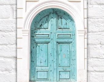 White and Blue, Mediterranean Door, Spain, Turquoise, Aqua, Bright White, Boys Room, Gender Neutral, White Room, Robin Egg