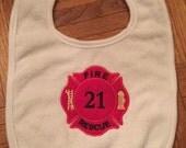 Firefighter Baby Bib