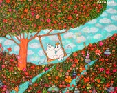 Moomin Fun Stretched Canvas Art Print 24 by 18 inch