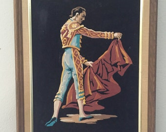 Vintage Velvet Matador original painting