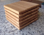 Coasters set of 6. Surface protection. Solid Timber. Victorian ash