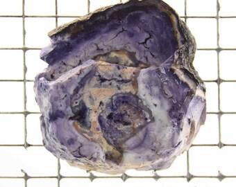 Tiffany Stone Opalized Fluorite Bertrandite Slab Deep Purple Color #1636