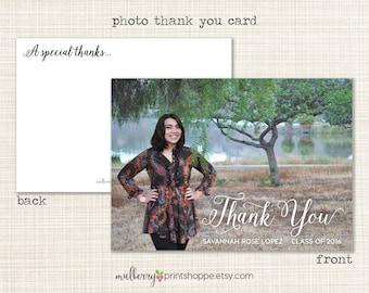 Printable Photo Graduation Thank You Card- 2015- College, High School, Middle School, Elementary School