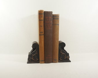 Shabby Chic Mid-Century Novels - Brown Books - 1940s