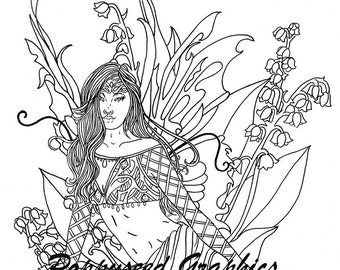 Fairy of May digital stamp by Lee Seed