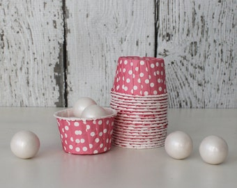 CANDY CUPS - Pink with White Dots - Set of 20 : The Paper Doll