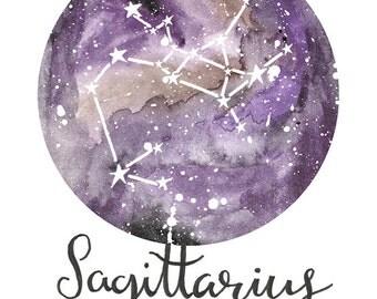 Sagittarius - Zodiac Constellations Archival Art Print