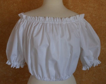 Cropped Short Sleeved Pirate Renaisssance Chemise Shirt Other Colors Available