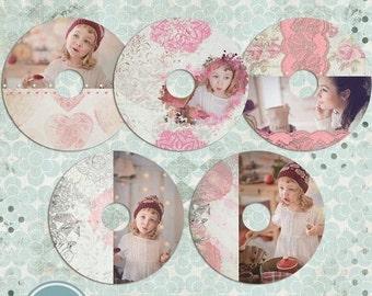 ON SALE cd/dvd  labels photoshop templates, cd/dvd  Labels - INSTANT Download