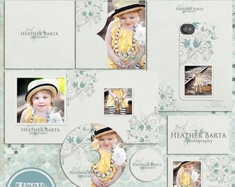 ON SALE Pre-made Marketing Set, photoshop Template, psd files for Photographers- INSTANT Download