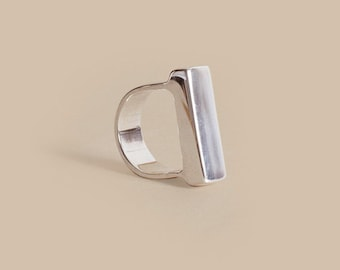 Silver Heavy Top Ring