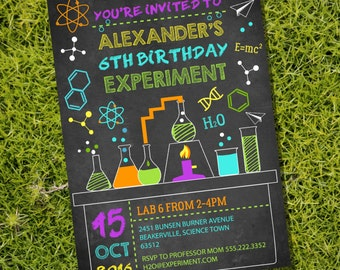 Science Experiment Party Invitation - Science Lab Party - Instant Download and Editable File - Personalize at home with Adobe Reader
