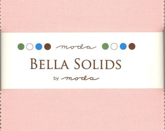 Bella Solids Sisters Pink Charm Pack, Set of 42 5-inch Precut Cotton Fabric Squares (9900PP-145)