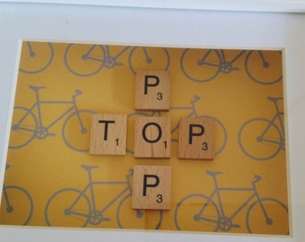 Top pop Father's Day scrabble frame.