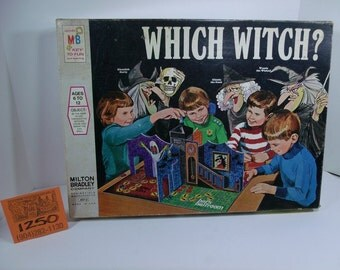 1970's Milton Bradley Which Witch Board game.
