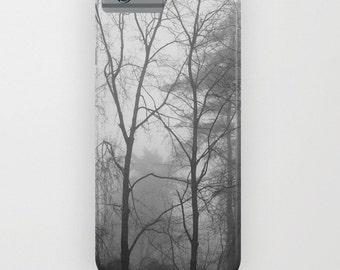 Woodland Fog iPhone Case, iPhone 6 case, iPhone 5 case, tree iPhone case, iPhone 6 plus case, Galaxy case, black white case, forest case