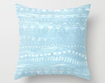 Pastel Blue Throw Pillow Cover, pastel throw pillow, blue pillow cover, blue pillow case, blue throw pillow, light blue pillow, pastel cover