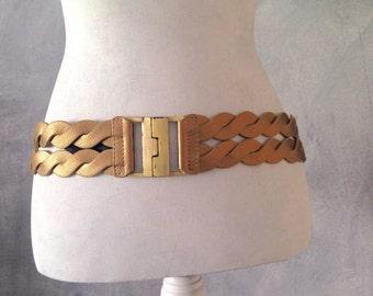 Gold twisted belt - 85 waist size