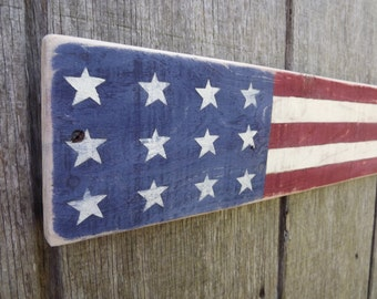 American Flag Sign Pallet Wood Sign Rustic Wood Sign Hand Painted Sign
