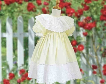 Size 3 Heirloom Style Dress with Camisole and Petticoat, Special Occasion, Bridal, Wedding, Flower Girl, Vintage, Classic