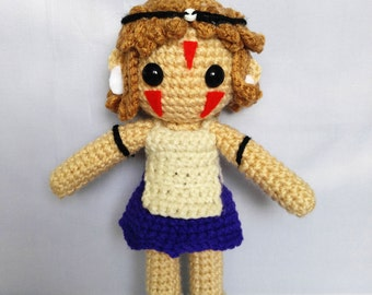 Amigurumi Princess Mononoke Crochet San Doll