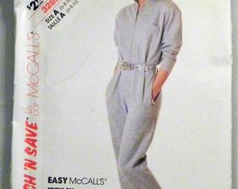 """SALE 1980s Jumpsuit Long Johns Playsuit Romper Sewing pattern McCalls 3285 Size 12-14-16 Bust 34-36-38"""" UNCUT FF"""