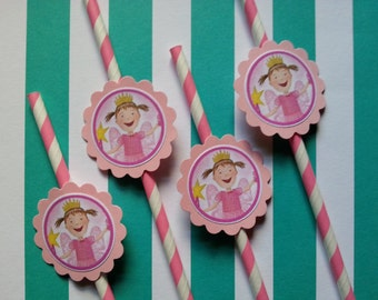 Pinkalicious inspired straws party favors, also for Elmo, my little pony, shopkins, chuggington, little einsteins, Paw patrol, mickey mouse