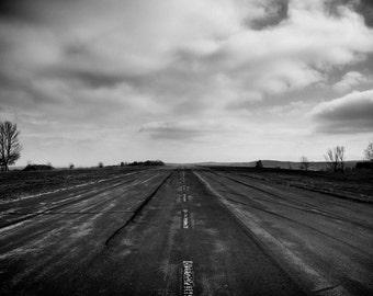 Road to Nowhere - photography - art - black & white - Upstate NY - print - gift - USA - Dave Butterworth - New York - EyeWasHere