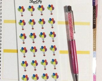Birthday Balloon Envelope seals, Planner Stickers, Balloon Stickers, Party Stickers, Invitation Stickers, Birthday Envelope Seals