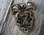 Antique Embroidered Applique with Metallic Thread Accents (Ref: A-4314/3/5 Box 2)
