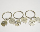 3 Pinky Promise Best Friend Heart BFF Keychains