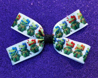 Hello Kitty Ninja Turtles hair bow