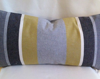 Pair of Lumbar Decorative Pillow Covers-Stiped Design-Accent Pillow Cover-Free Shipping.