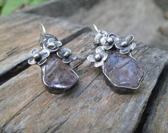 Natural  Amethyst - Earrings