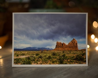 Greeting Card, Blank Card, Landscape Photography, Moab Photography, 5x7 Greeting Card, Fine Art Photography, Photo Card, Art Card