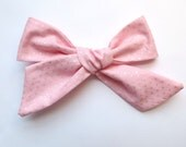 Big Hair Bows/One Size Fits All/Valentine's Day Bows/Light Pink Bows/Little Girl's Bows