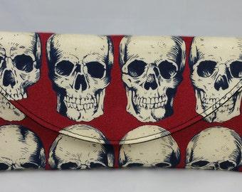 Rad Skulls in Red Wallet