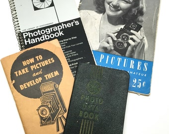 Vintage Camera Books, Manuals, Reference, Photography, Technical, How-To, Hobby, 1940-1970