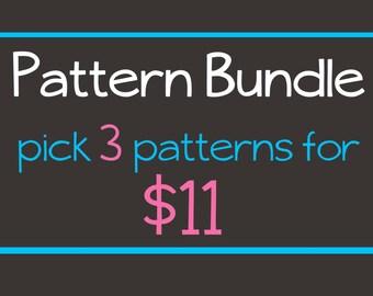 3 for 11 Pattern Bundle-Crochet Amigurumi PDF Patterns