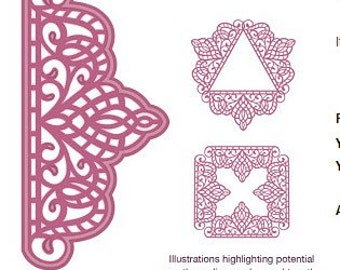Creative Expressions Sue Wilson Die - Configurations Collection - Hobart Adornment- CED6306