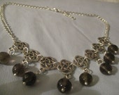 Celtic style necklace with smokey quartz