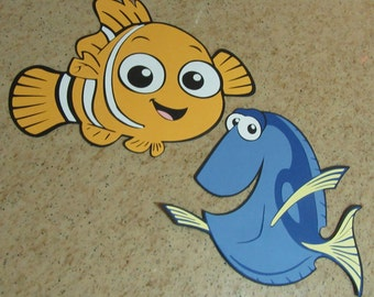 LARGE NEMO & DORY Paper Die Cuts