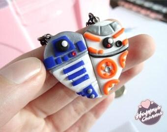 R2D2 & BB-8 BFF Necklace Set