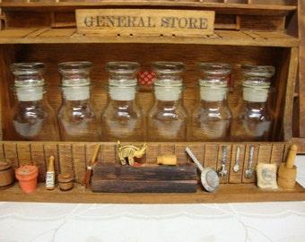 Diorama General Store Spice Rack