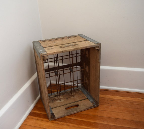 Wooden dairy crate milk crate metal for Where can i buy wooden milk crates