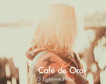 Café de Oro - 5 Lightroom Presets INSTANT DOWNLOAD