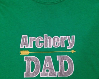 Archery Dad Embroidered T-shirt