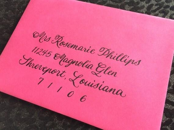 ROSEMARIE : Custom Wedding Calligraphy Envelope Addressing