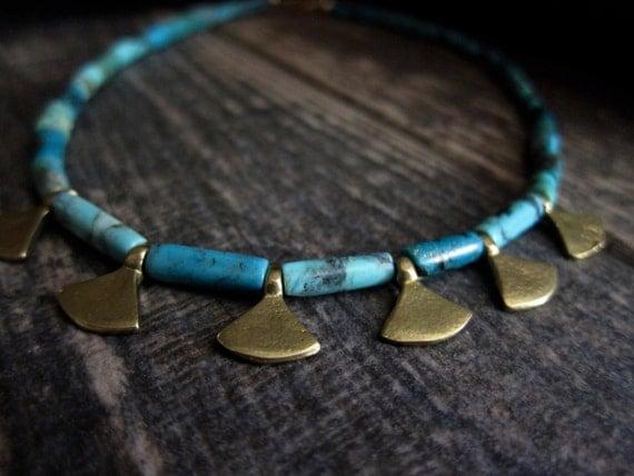 Nefertiti Turquoise Choker