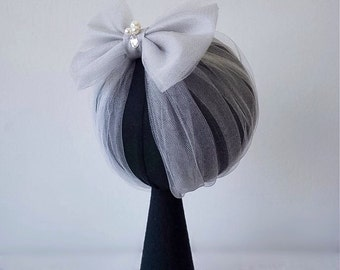 Gorgeous Turban with in Light Grey